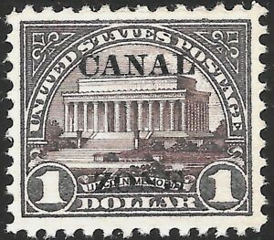 CANAL ZONE #81 XF MNH OG $1 LINCOLN MEMORIAL (#571) -TYPE A - PF CERT (REM-81A)