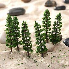10Pcs 9cm Pine Trees Model Garden Park Street Train Railway Scenery HO N Layout