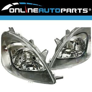 LH+RH HeadLights Pair for Toyota Echo 1999-2002 3Dr 5Dr Hatch Left RIght L+R