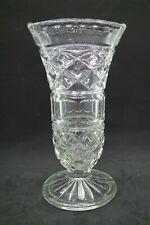 Lovely Art Deco Pressed Glass Vase