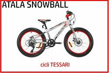 bici bicicletta bambino FAT BIKE mtb 20 Atala Snowball freni a disco 6 velocita'