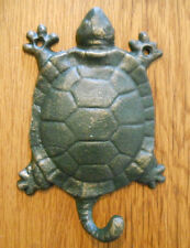 12 Cast Iron Antique Style Nautical TURTLE Coat Hooks Hat Hook Rack Towel Sea