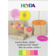 Heyda A4 Neon Paper & Card Pad 10pcs 5 Colours