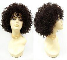 Dark Brown Spiral Curls Heat Resistant Fashion Wig Big Short Curly Afro-like