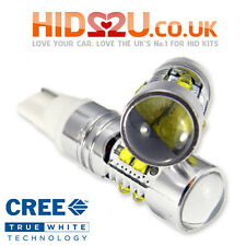 2 50W CREE W5W T10 501 LED WEDGE CAR BULBS SIDE LIGHT INTERIOR WHITE 5000K 6000K