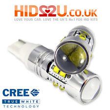 2 50w CREE w5w t10 501 LED auto cuneo lato lampadina luce interni bianco 5000k 6000k
