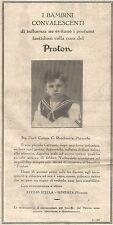 W4559 PROTON - Benedetto Francesco - Messina - Pubblicità del 1931 - Vintage ad