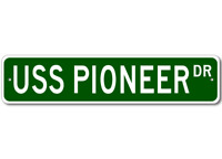USS PIONEER MCM 9 Ship Navy Sailor Metal Street Sign - Aluminum