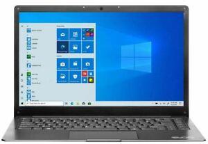 "Evoo Ultra Thin 14.1"" FHD Intel Celeron N3350 4GB RAM 64GB SSD Laptop"
