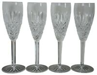 4 Waterford Crystal Castlemaine Champagne Flutes Stemware Toasting Glass