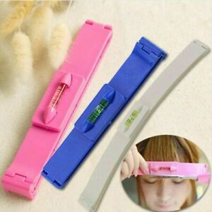 2pcs/set DIY Professional Bangs Hair Cutting Clip Comb Hairstyle Trim Ruler Tool
