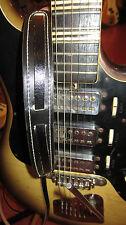 Vintage Original 1960s Sottile Guitar Strap Black Leather Made in USA Cool!!