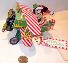 Vintage RARE 1980's Mickey Plane Ornament Fold-able Paper Mail-Away BRAND NEW 3D