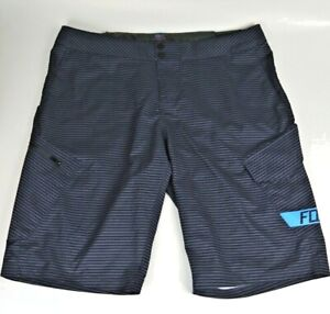 FOX Racing 38 RANGER Mountain Bike Shorts  *No Liner Blue Gray Stripe