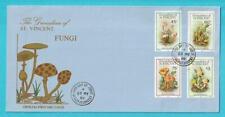 St. Vincent / Grenadinen aus 1986 FDC MiNr. 493-496 Pilze