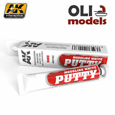 White Acrylic Modeling Putty - HARD - 20ml Tube - AK Interactive 103