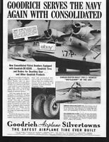 CONSOLIDATED AIRCRAFT CORP 1938 PBY-2 PATROL BOMBERS GOODRICH DE ICERS AD