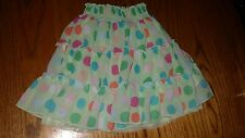 """THE CHILDREN'S PLACE"" LITTLE GIRLS CUTE GREEN W/ POLK-A-DOT SKIRT (SIZE:  4T)"