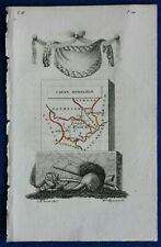 IRELAND, CAVAN, MONAGHAN, minature antique county map, Perrot, 1824