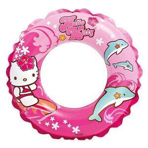 Inflatable Swim Ring Sanrio Hello Kitty Surfing Dolphin Aloha Hawaiian NEW