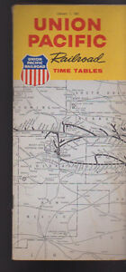 Union Pacific Railroad Time Tables January 1 1961 Trains