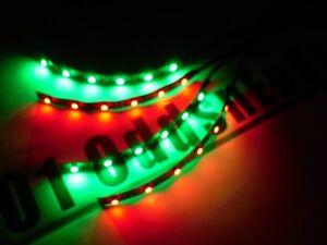 RC Green & Red Underbody Black pcb LED Light strip Glow Car Truck Quadcopter 4x