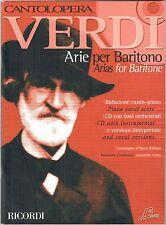Giuseppe Verdi – Arie per baritono – Ricordi, con allegato CD AUDIO