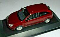 car 1/43 MINICHAMPS  FORD FOCUS MK1 3 doors 1998 MET RED NEW BOX