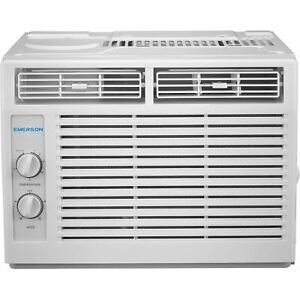 Emerson Quiet Kool 5,000 BTU 115V Window Air Conditioner with Mechanical Rotary