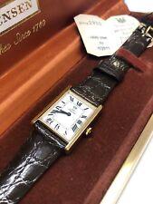 NEW Jules Jurgensen Women's Wrist Gold Tome Watch Leather Black