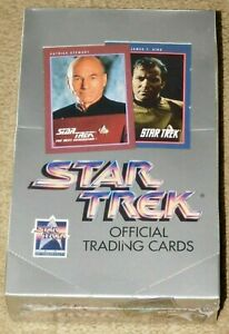 1991 IMPEL STAR TREK OFFICIAL TRADING CARDS UNOPENED SEALED BOX - 36 Packs