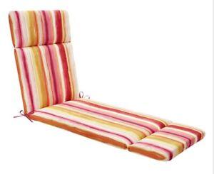 Chaise Cushion Sunrise Ombre Multicolor Stripe Lounge Universal Cushion m12