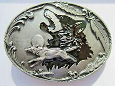 Wolf Gürtelschnalle Wölfe Howling Wolf.