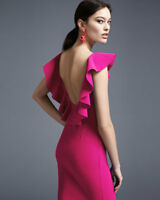 $695 LA PETITE ROBE  di CHIARA BONI MARIKA OPEN BACK DRESS PINK sz 12/48 NWT