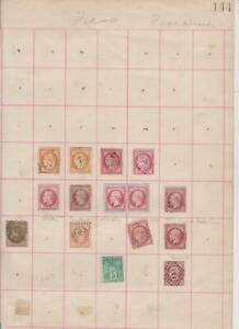 2134 France Ceres and Napoleon etc 15 stamps mixed condition