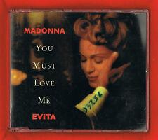 MADONNA 'You Must Love Me' UK. Promo GEMA/BIEM 1 Track FREE UK POST