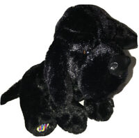 "Ganz Webkinz Black Lab Stuffed Animal Plush Dog Lovers NO CODE 9"" Puppy Soft"