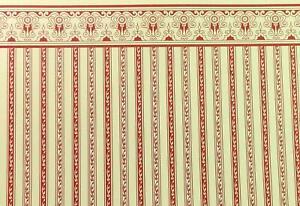 Casa Delle Bambole Miniatura Stampa Rosso Crema Regency Righe Carta da Parati