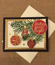 Handmade Card Christmas Ornaments on Branches ~ made w/ Stampin Up & other pr