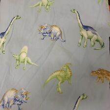 Pottery Barn Kids Reversible Twin Duvet Cover Blue And White Dinosaurs