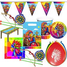 62 Teile Indianer 8 Kinder Indianerparty Kindergeburtstag Kinderparty Partyset
