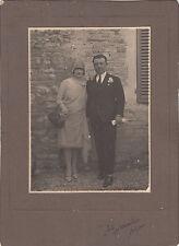 FOLIGNO FOTOGRAFIA  A. MARCHINI COPPIA DI SPOSI ABITO DONNA E UOMO CIRCA 1900