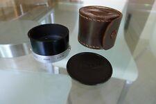 Leica ITOOY Lens Hood 50mm F2.8 Elmar 50mm/5cm F3.5 Elmar with Case & Cap. MINT