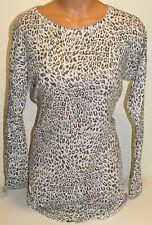 victorias secret bikini coverup white leopard print sheer XS sleep shirt gown
