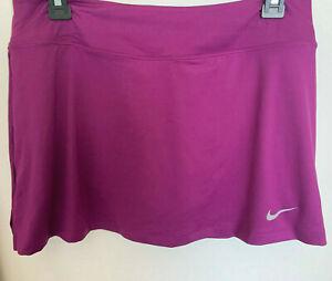 NEW! NIKE [L] Womens DRI-FIT Tennis Skort-Purple 523544-519