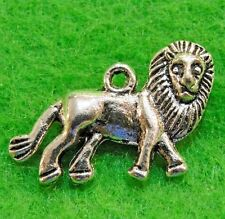 10Pcs. Tibetan Silver 3D LION Charms Pendants Earring Drops Findings  AN006