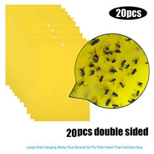 20X Strong Bugs Sticky Glue Board Insects Killer Catchers Flies Traps Bed Paper