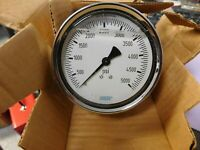 "Wika 4"" Dial 1/4 Thread 0-5,000 Scale Range Pressure Gauge 9314520"