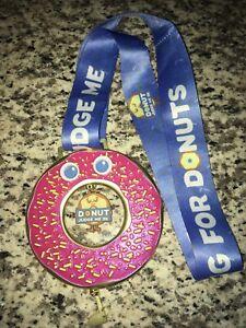 Donut Judge Me 5K Run Running Finishers Race Medal