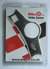 Bike It Carbon Look Self-Adhesive Yoke Cover Pad for Honda CBR600F 1999-2002